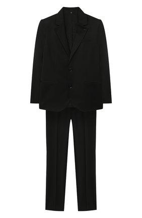 Детский костюм из пиджака и брюк EMPORIO ARMANI черного цвета, арт. 8N4V02/4N19Z | Фото 1