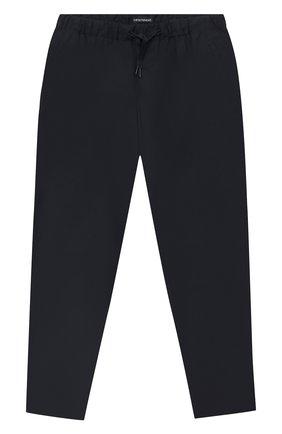 Детские брюки EMPORIO ARMANI темно-синего цвета, арт. 6H4PG5/4N4FZ | Фото 1