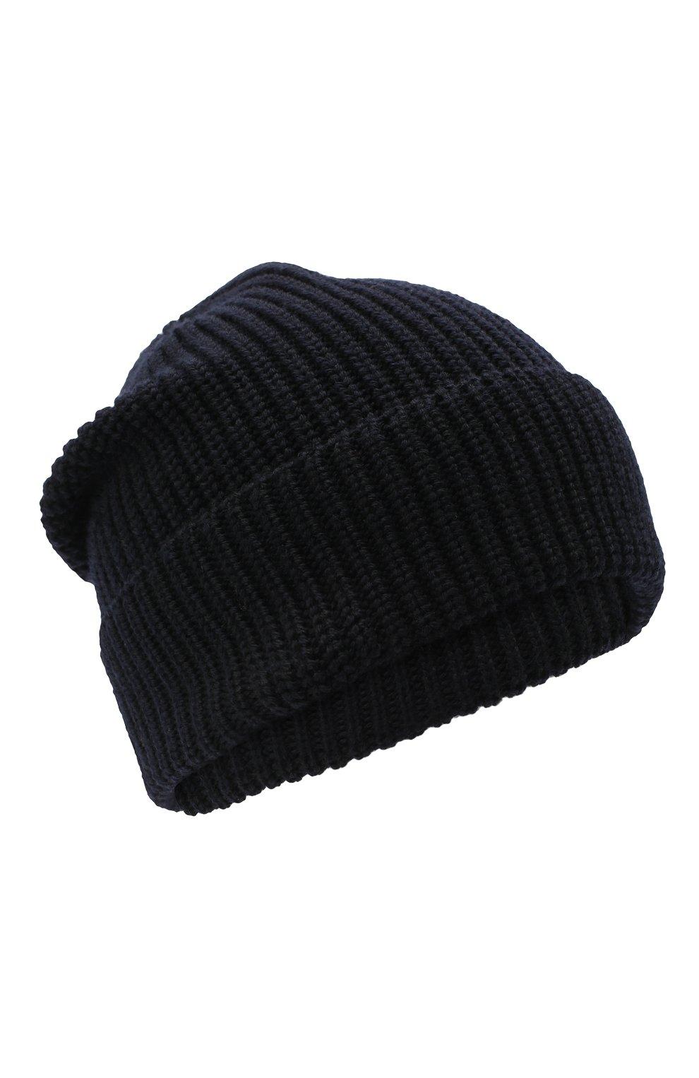 Детский комплект из шапки и шарфа EMPORIO ARMANI темно-синего цвета, арт. 407511/0A759 | Фото 2 (Материал: Шерсть)