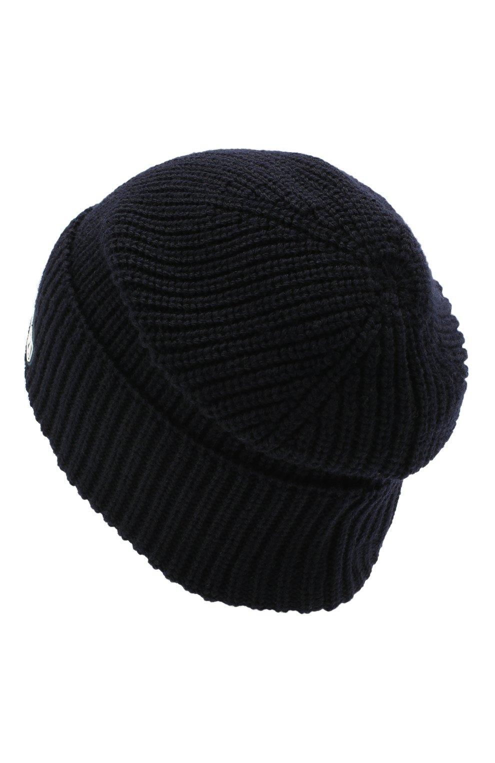 Детский комплект из шапки и шарфа EMPORIO ARMANI темно-синего цвета, арт. 407511/0A759 | Фото 3 (Материал: Шерсть)