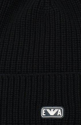 Детский комплект из шапки и шарфа EMPORIO ARMANI темно-синего цвета, арт. 407511/0A759 | Фото 5 (Материал: Шерсть)