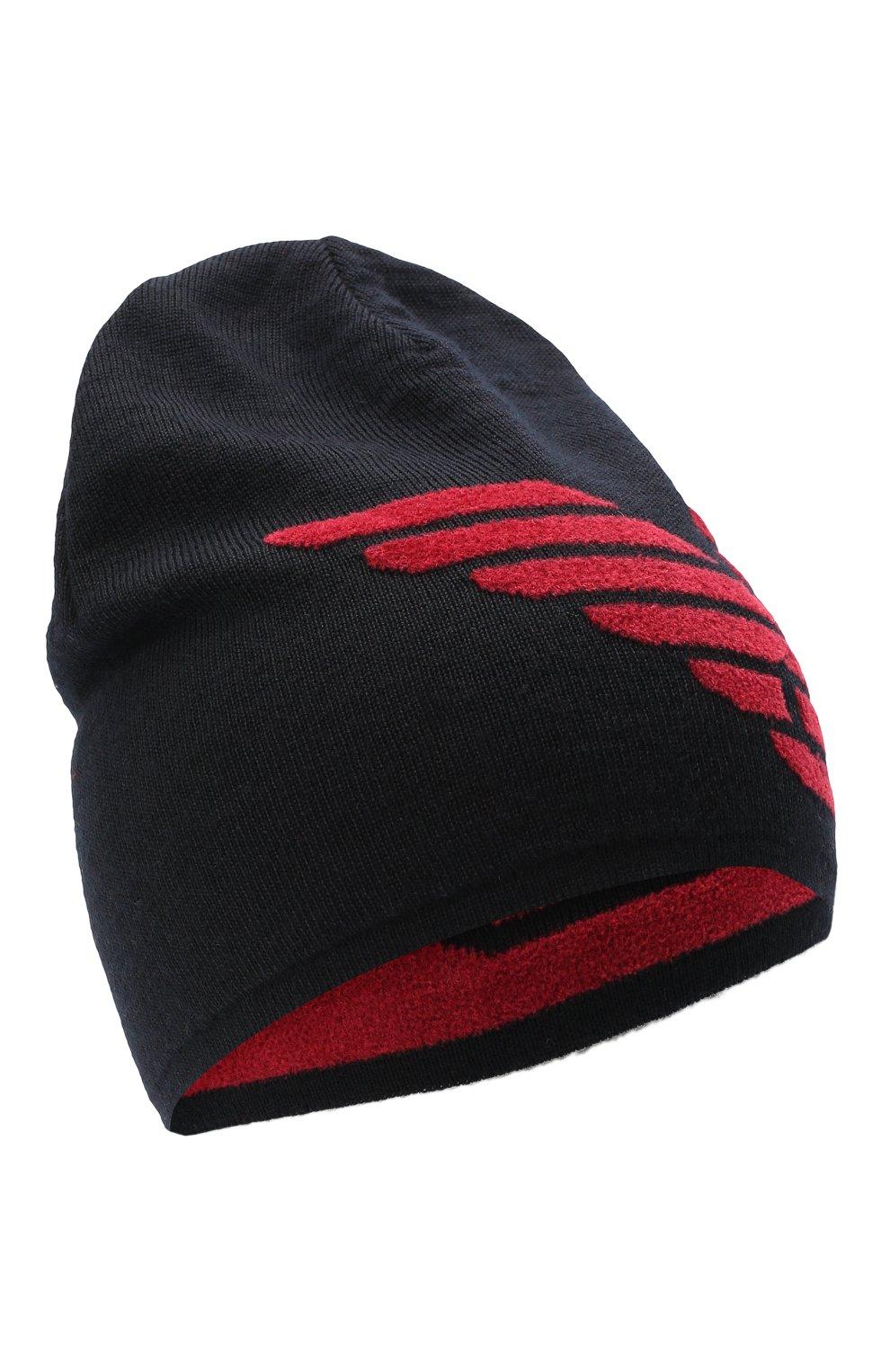 Детский комплект из шапки и шарфа EMPORIO ARMANI красного цвета, арт. 407510/0A758   Фото 2