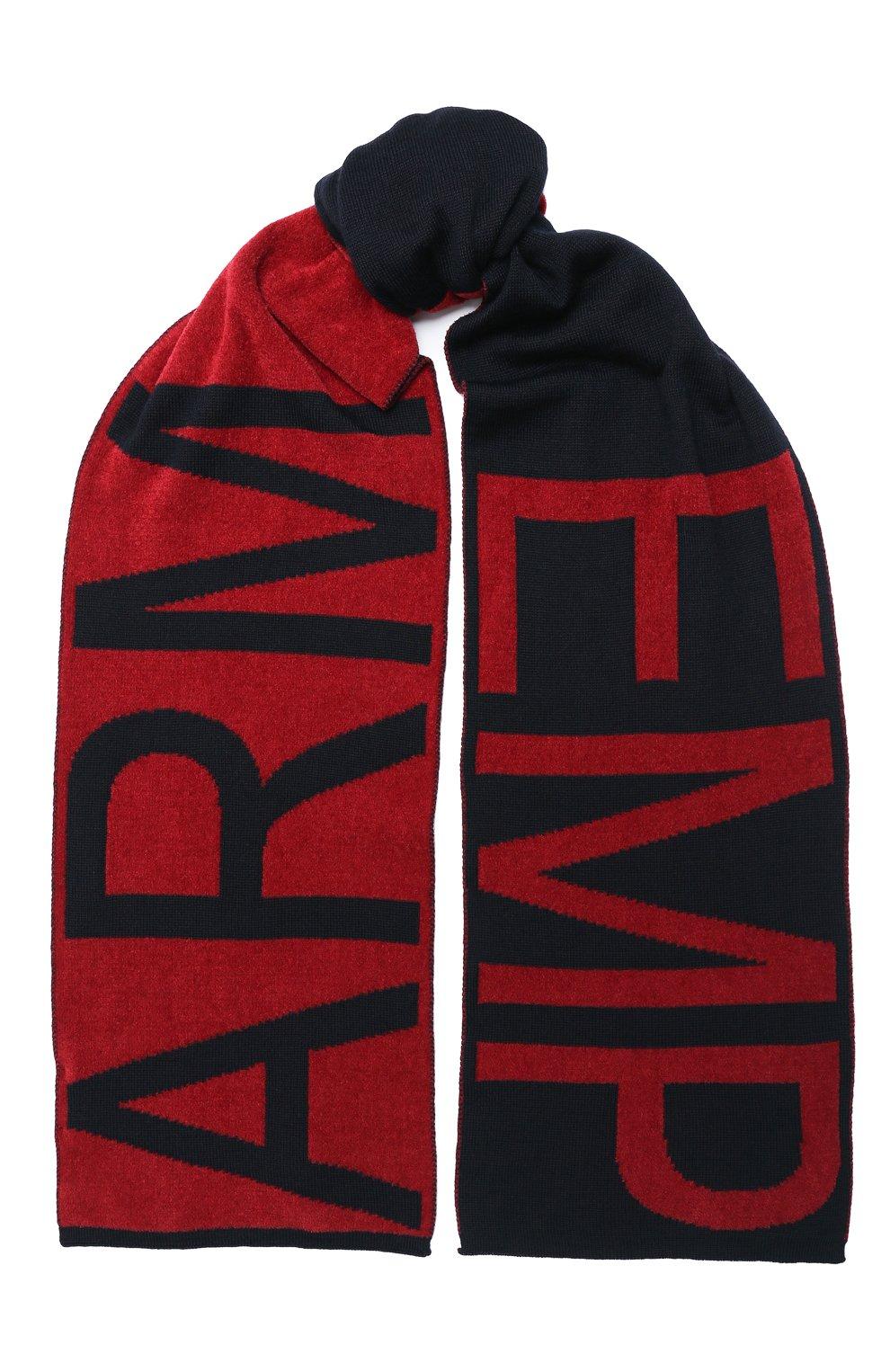 Детский комплект из шапки и шарфа EMPORIO ARMANI красного цвета, арт. 407510/0A758   Фото 4