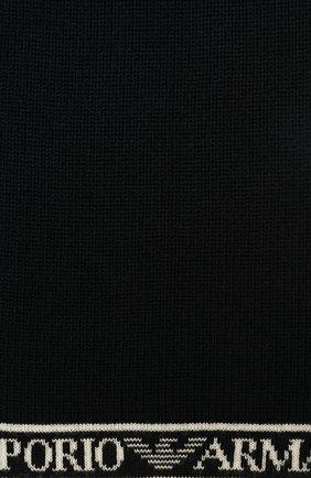 Детский шерстяной шарф EMPORIO ARMANI темно-синего цвета, арт. 404617/0A466 | Фото 2