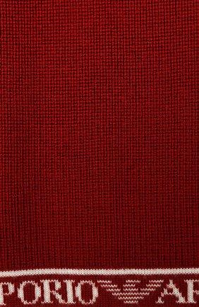 Детский шерстяной шарф EMPORIO ARMANI красного цвета, арт. 404617/0A466 | Фото 2