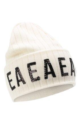 Детского шерстяная шапка EMPORIO ARMANI белого цвета, арт. 394607/0A463 | Фото 1