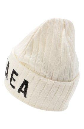 Детского шерстяная шапка EMPORIO ARMANI белого цвета, арт. 394607/0A463 | Фото 2