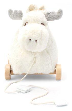 Детского игрушка лось на колесах KID`S CONCEPT белого цвета, арт. 1000411   Фото 1