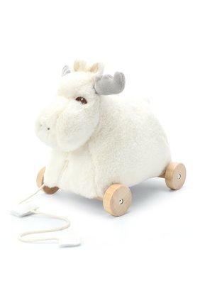 Детского игрушка лось на колесах KID`S CONCEPT белого цвета, арт. 1000411   Фото 2
