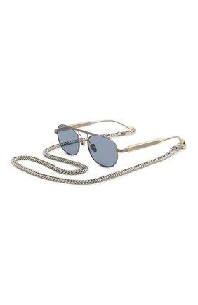 Мужские солнцезащитные очки и цепочка ÉTUDES синего цвета, арт. CANDIDATE SILVER CH WITH CHAIN | Фото 1