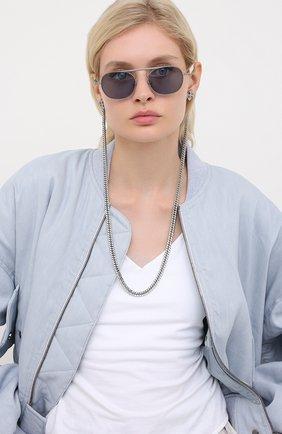 Мужские солнцезащитные очки и цепочка ÉTUDES синего цвета, арт. CANDIDATE SILVER CH WITH CHAIN | Фото 2