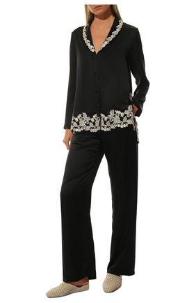 Женская шелковая пижама LA PERLA черно-белого цвета, арт. 0051240 | Фото 2