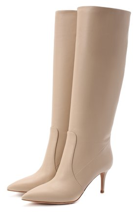 Женские кожаные сапоги hansen GIANVITO ROSSI бежевого цвета, арт. G80458.70RIC.VGIM0US | Фото 1