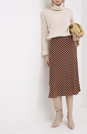 Женские кожаные сапоги hansen GIANVITO ROSSI бежевого цвета, арт. G80458.70RIC.VGIM0US | Фото 2