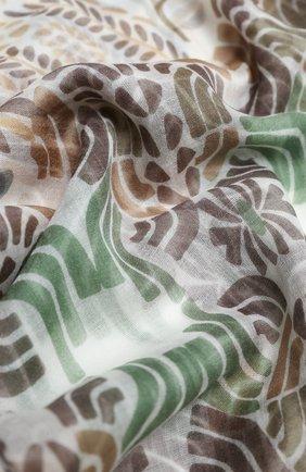 Женская кашемировая шаль LORO PIANA бежевого цвета, арт. FAL2767 | Фото 2