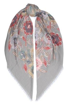 Женская шаль из кашемира и шелка LORO PIANA светло-серого цвета, арт. FAL3539 | Фото 1
