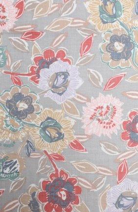 Женская шаль из кашемира и шелка LORO PIANA светло-серого цвета, арт. FAL3539 | Фото 2