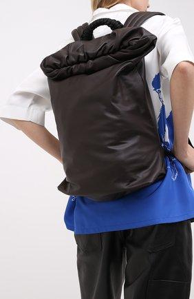 Женский кожаный рюкзак BOTTEGA VENETA темно-коричневого цвета, арт. 629858/VA9V2 | Фото 2