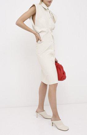 Женские кожаные мюли BOTTEGA VENETA кремвого цвета, арт. 578329/VBPJ0 | Фото 2