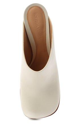 Женские кожаные мюли BOTTEGA VENETA кремвого цвета, арт. 578329/VBPJ0 | Фото 5