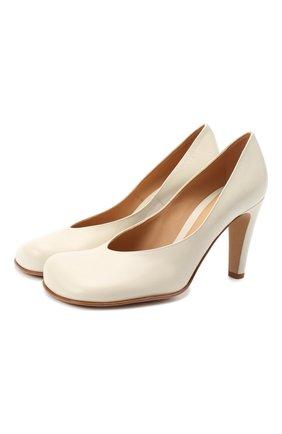 Женская кожаные туфли BOTTEGA VENETA кремвого цвета, арт. 578330/VBPJ0 | Фото 1