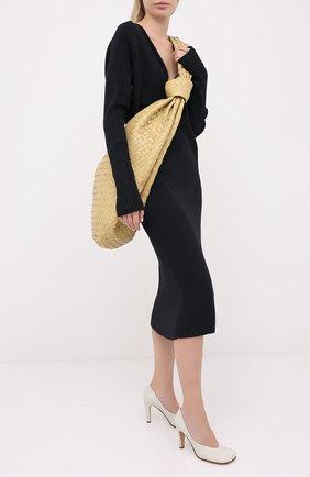 Женская кожаные туфли BOTTEGA VENETA кремвого цвета, арт. 578330/VBPJ0 | Фото 2