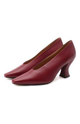 Женская кожаные туфли almond BOTTEGA VENETA красного цвета, арт. 608839/VBSD0 | Фото 1