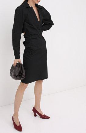 Женская кожаные туфли almond BOTTEGA VENETA красного цвета, арт. 608839/VBSD0 | Фото 2