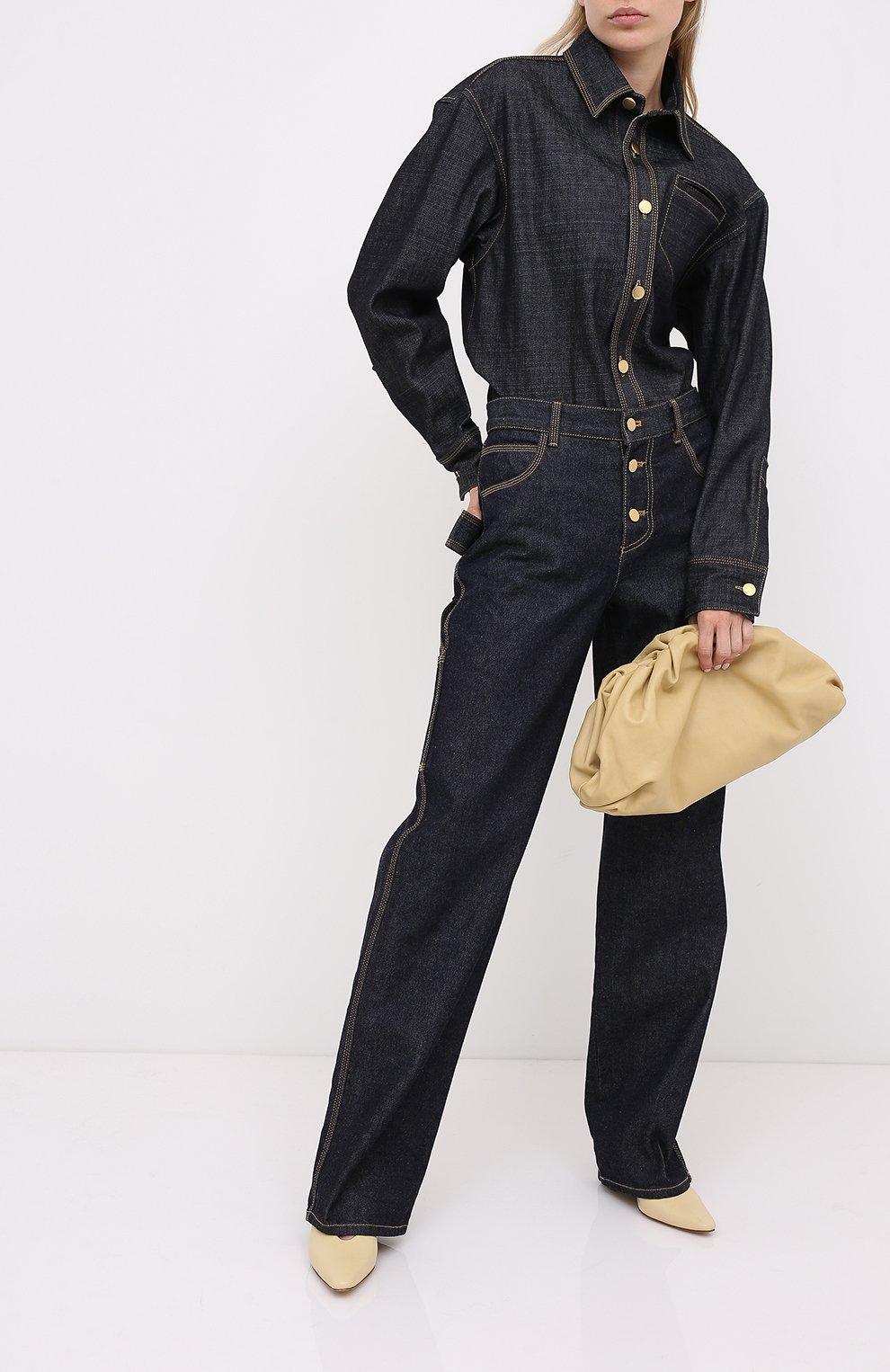 Женские кожаные туфли almond BOTTEGA VENETA светло-бежевого цвета, арт. 608839/VBSD0 | Фото 2