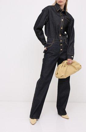 Женская кожаные туфли almond BOTTEGA VENETA светло-бежевого цвета, арт. 608839/VBSD0 | Фото 2
