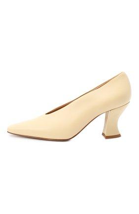Женские кожаные туфли almond BOTTEGA VENETA светло-бежевого цвета, арт. 608839/VBSD0 | Фото 3