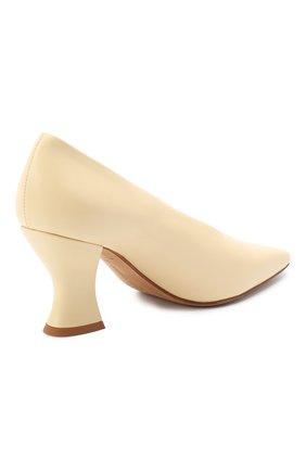Женские кожаные туфли almond BOTTEGA VENETA светло-бежевого цвета, арт. 608839/VBSD0 | Фото 4