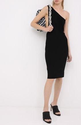 Женские кожаные мюли bv curve BOTTEGA VENETA черного цвета, арт. 621340/VBTG0 | Фото 2