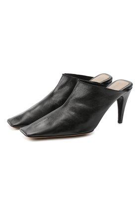 Женские кожаные мюли BOTTEGA VENETA черного цвета, арт. 618775/VBSH0 | Фото 1