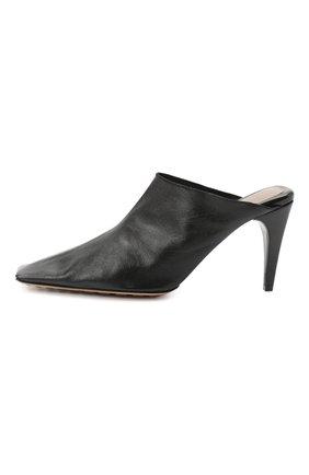 Женские кожаные мюли BOTTEGA VENETA черного цвета, арт. 618775/VBSH0 | Фото 3