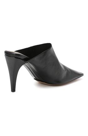 Женские кожаные мюли BOTTEGA VENETA черного цвета, арт. 618775/VBSH0 | Фото 4