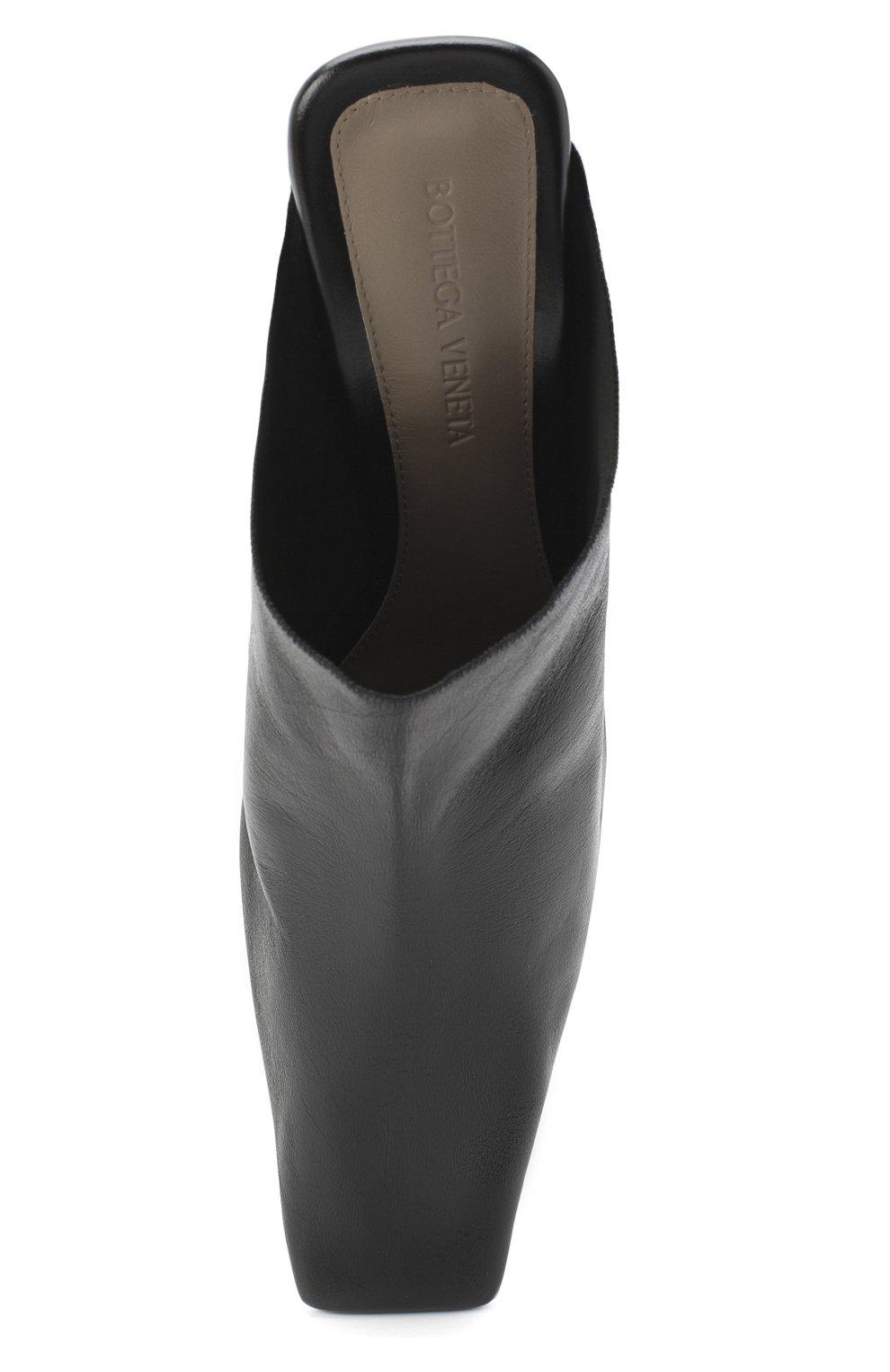 Женские кожаные мюли BOTTEGA VENETA черного цвета, арт. 618775/VBSH0 | Фото 5