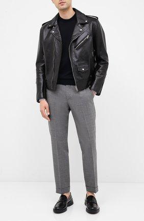 Мужские кожаные пенни-лоферы BOSS черного цвета, арт. 50432526 | Фото 2