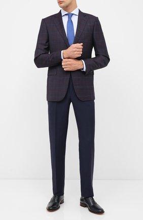 Мужские кожаные оксфорды BOSS темно-синего цвета, арт. 50429366 | Фото 2