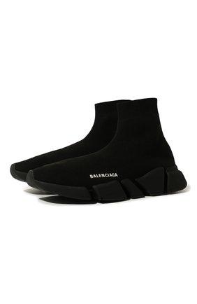 Мужские текстильные кроссовки speed 2.0 BALENCIAGA черного цвета, арт. 617239/W1701 | Фото 1
