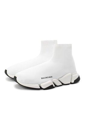 Мужские текстильные кроссовки speed 2.0 BALENCIAGA белого цвета, арт. 617239/W1702 | Фото 1