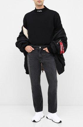 Мужские текстильные кроссовки speed 2.0 BALENCIAGA белого цвета, арт. 617239/W1702 | Фото 2