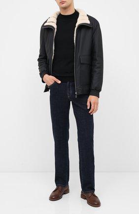 Мужской кожаный бомбер ZILLI черного цвета, арт. MAS-GALIE-01960/0003 | Фото 2
