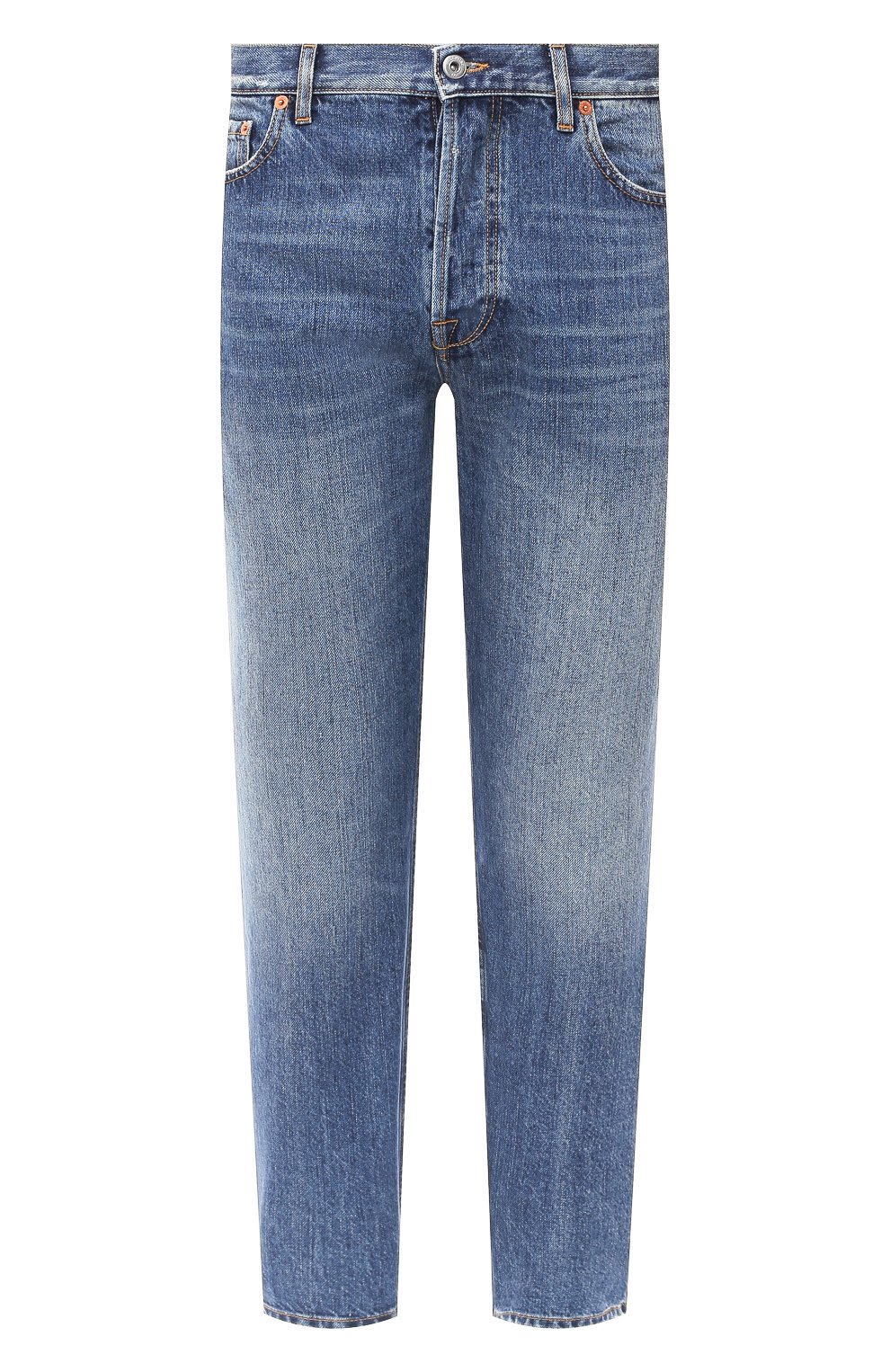 Мужские джинсы VALENTINO синего цвета, арт. UV3DE00Y6H5 | Фото 1
