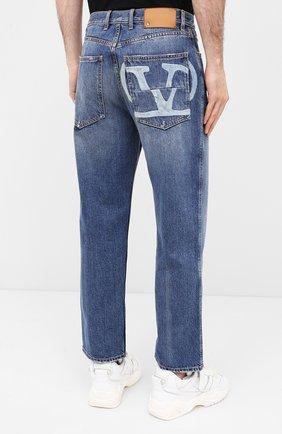 Мужские джинсы VALENTINO синего цвета, арт. UV3DE00Y6H5 | Фото 4