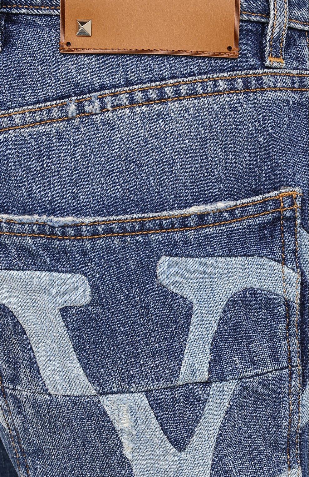 Мужские джинсы VALENTINO синего цвета, арт. UV3DE00Y6H5 | Фото 5