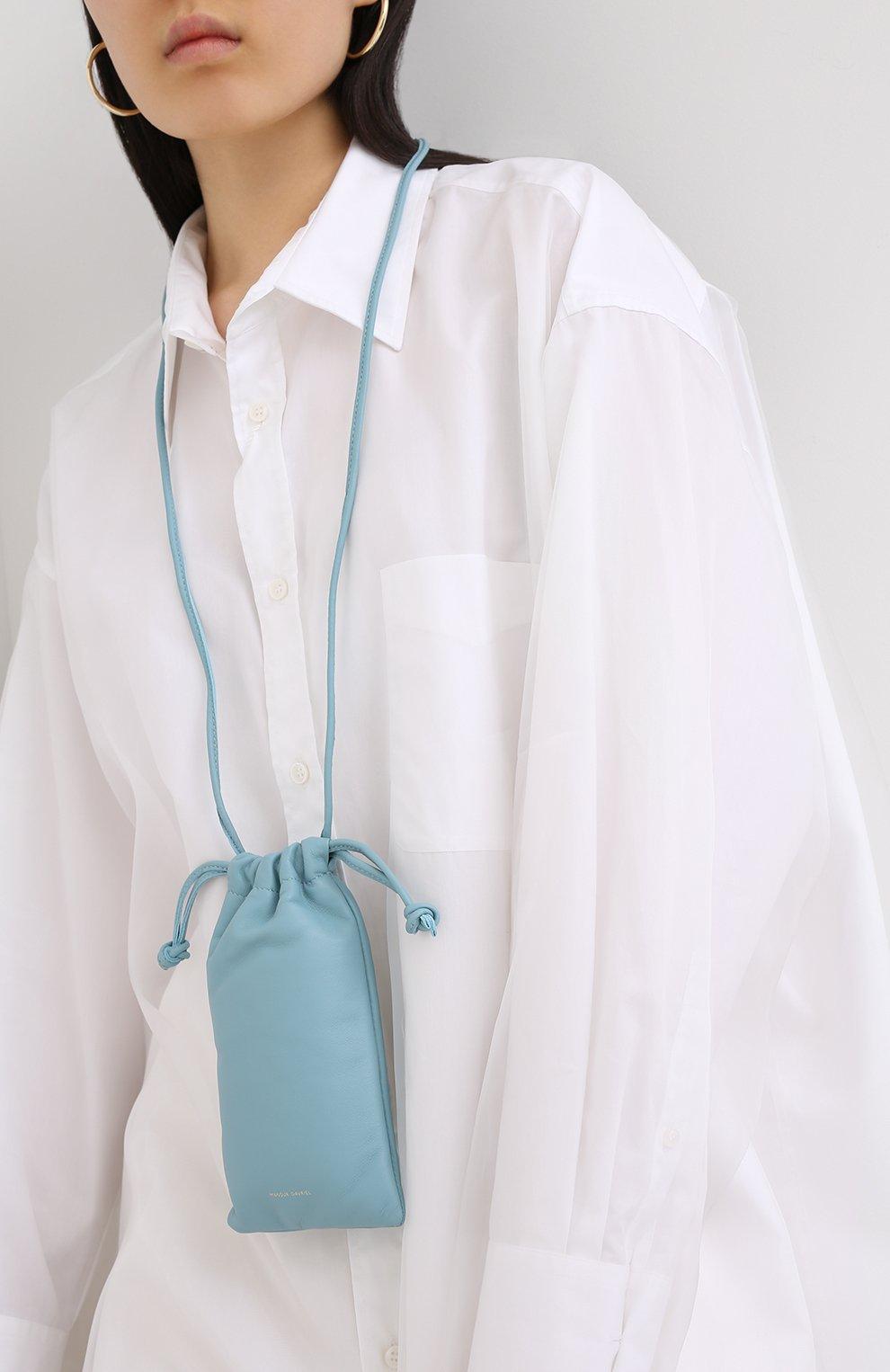 Женская сумка pillow MANSUR GAVRIEL голубого цвета, арт. WP20H004KQ | Фото 2