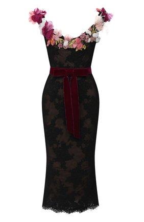 Женское платье-миди MARCHESA черного цвета, арт. M28919 | Фото 1