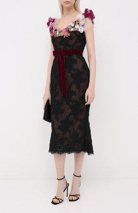 Женское платье-миди MARCHESA черного цвета, арт. M28919 | Фото 2