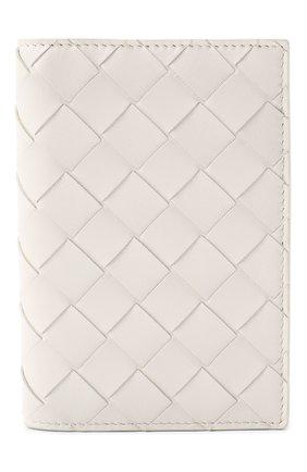 Женского кожаная обложка для паспорта BOTTEGA VENETA белого цвета, арт. 608061/VCPP2 | Фото 1